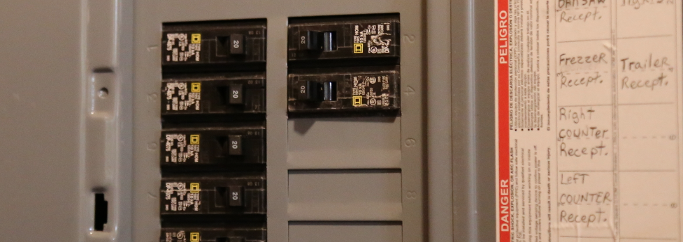 modern electrical panel after a heavy up